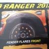 คิ้วล้อดำด้าน มีไฟ New Ranger ค่าย Fitt (2015-ขึ่นไป)