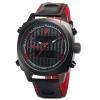 SHARK Watch นาฬิกาข้อมือแฟชั่นผู้ชาย 2 ระบบ สายข้อมือหนัง PU อย่างดี Quartz Digi-Analog เวลา-วัน-วันที่ SH493SI