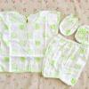ไซส์ 0-3 เดือน Kerokid ชุดเสื้อผ้าเด็กอ่อน 4 ชิ้น - สีเขียว