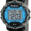 นาฬิกาข้อมือผู้ชายแนวสปอร์ตของแท้ Armitron Sport 408291BLGY Digital เรือนฟ้าเทา ดิจิตอล สายข้อมือไนล่อน