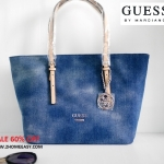 กระเป๋า Guess Tote Bag Jean Edition สีสวย ลายคลาสิค ทรง Tote ยีนส์