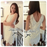 DC-PP-006 Lady Lolita Sweet Sexy White V-back Lace Dress