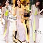 Korea's new long section of it is a bohemian beach dress slim waist chiffon dress by Aris Code