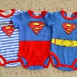 ไซส์ 0-3,3-6,6-9 เดือน บอดี้สูทเด็กผู้ชาย ลาย Superman แพ็ค 3 ตัว สุดคุ้ม