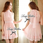 DR-LR-032 Lady Emina Sweet Pastel Sleeveless Dress