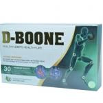 D-Boone ดีบูเน่ อาหารเสริม เสริมสร้างกระดูก บำรุงกระดูกและข้อ ลดอาการนิ้วล๊อก ปวดเมื่อย ข้อเข่ามีปัญหา บรรจุ 30 แคปซูล