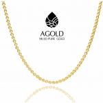 สร้อยคอทองคำแท้ 96.50% น้ำหนัก 1 บาท (15.2กรัม) ลายทาโร่ (รหัสสินค้า 2AgzIDp)