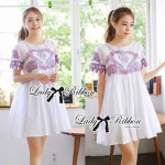 DR-LR-048 Lady Florence Chic Cross-stitch Dress