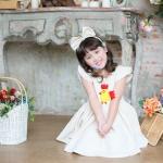 Chicken Dress ชุดเดรสเด็กสีครีม