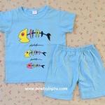 ไซส์ 4-5-6 ปี เสื้อยืดเด็กสกรีนลาย กางเกงขาสั้น ผ้า Cotton100% ผ้านิ่ม
