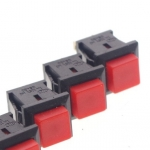 Push Button Switch Red Square