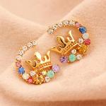 ต่างหู Diamond crown