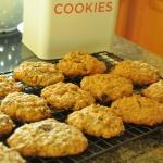 สูตร cranberry and walnut oatmeal cookies ทำเองง่ายๆได้ที่บ้านค่ะ