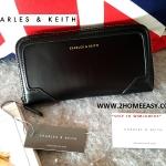 กระเป๋าสตางค์ ยี่ห้อ Charles & Keith Wallet ซิปยาว ใหม่ แท้ รุ่น Long Wallet พร้อมส่ง ที่ไทย