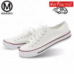 Marino รองเท้าผ้าใบผู้หญิง No.A001 - (สีขาว) (รหัสสินค้า 2yiyIej)