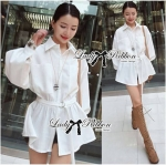Lady Margaret Minimal Chic Shirt Dress with Belt L121-69C08