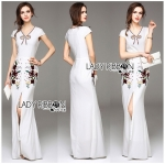 Lady Anne Sexy Elegant Floral Embroidered Polyester Dress L259-8509