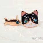 ต่างหูแมว+ปลา