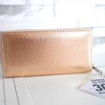 กระเป๋าสตางค์ยาว pimkie wallet ของแท้ สีทอง Gold Edition ทรงยาว ซิปรอบ พร้อมส่งที่ไทย