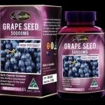 Auswellife Grape Seed 50,000mg ออสเวลไลฟ์ เกรฟ ซีด 50000มก 60 แคปซูล