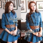 DR-LR-025 Lady Ribbon's Made Lady Mara Chic Denim Dress