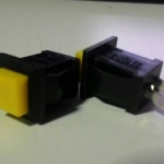 Push Button Switch Yellow Square