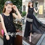 Lady Ellen Insert Lace Chiffon Maxi Dress L129-75C09