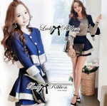 DS-PP-048 Lady Gisele Chic Brocade Jacket and Shorts Set