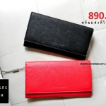 CHARLES & KEITH CLASSIC LONG WALLET CK6-10680357 กระเป๋าสตางค์ ยาว สีดำ, สีแดง