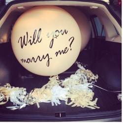 ลูกโป่งขอแต่งงาน
