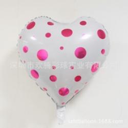 หัวใจลายจุดballoon ขนาด18 นิ้ว
