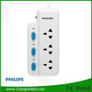 รางปลั๊กไฟ Philips 3 ช่องเสียบ 3 สวิตช์ 2m.