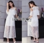 Lady Leila Casual Chic Cut-Out Chiffon and Lace Midi Dress L210-75C10 thumbnail 2