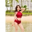 498 ชุดว่ายน้ำ ทูพีช สีแดงเลือดหมู thumbnail 5
