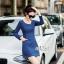 Slim thin long-sleeved dress denim skirt denim by Aris Code A243-79C05 thumbnail 4
