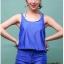 SM-V1-371 ชุดว่ายน้ำเซ็ต 4 ชิ้น สีน้ำเงินสวย บรา+บิกินี่ เสื้อคลุม+กางเกงขาสั้น thumbnail 6