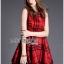 Lady Cris British Elegant Check Printed Beige Dress L196-85C07 thumbnail 3
