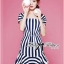 Lady Jenny '50s Style Mixed Striped Dress thumbnail 4