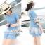 DR-LR-039 Emma Denim Layer Trim Mini dress thumbnail 4