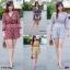 จั้มสูท(Jumpsuit)สุดฮอต จั้มสูท #สาวอวบ ผ้าชีฟร็อง คอวีไขว้อก thumbnail 1