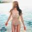 SM-V1-501 ชุดว่ายน้ำวันพีช ลำตัวผ้าลูกไม้ซีทรูสวยๆ สีเนื้ออมชมพู thumbnail 1