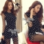 DR-LR-038 Lady Petra Timeless Chic Polka Dots Long-Sleeved Dress thumbnail 7