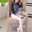 Lady denim long sleeve elegant chiffon True by Aris Code thumbnail 6