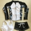 SM-V1-634 ชุดว่ายน้ำแขนยาว เซ็ต 3 ชิ้น บราขาว+กางเกงสีดำ+เสื้อแขนยาวซิปหน้า โทนสีขาวดำสวยๆ thumbnail 2