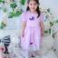 Butterfly Princess Dress ชุดเดรสเด็กสีม่วง thumbnail 6