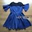 Lady Stella Smart Casual Black Lace and Denim Dress L255-79C12 thumbnail 14