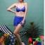 SM-V1-371 ชุดว่ายน้ำเซ็ต 4 ชิ้น สีน้ำเงินสวย บรา+บิกินี่ เสื้อคลุม+กางเกงขาสั้น thumbnail 7