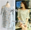 DR-LR-288 Lady Jenna Cut-Out Floral Print Baby Blue Flared Dress thumbnail 11