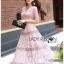 Lady Carly Feminine Pinky Striped Lace Maxi Dress L268-7902 thumbnail 11