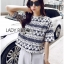 Lady Leslie Lace Embroidered Jersey and grey Culottes Set L266-79C03 thumbnail 6